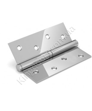 Дверные съемные врезные петли. Длинна 100 мм. Открывание ЛЕВОЕ. Цвет серебро (сатин)