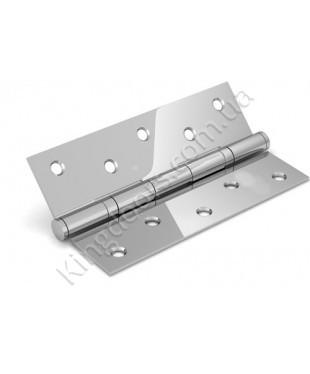 Дверные врезные универсальные петли. Длинна 125 мм. Цвет серебро (хром)