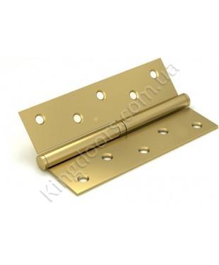Дверные съемные врезные петли. Длинна 125 мм. Открывание ЛЕВОЕ. Цвет матовое золото