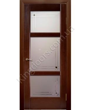 """Межкомнатные шпонированные двери """"Генри"""" ПОО.  НСД. Цвет - каштан"""