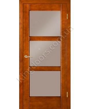 """Межкомнатные шпонированные двери """"Генри"""" ПОО.  НСД. Цвет - анегри"""