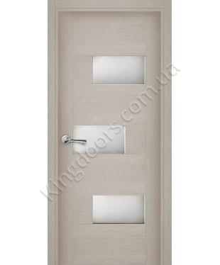 """Межкомнатные шпонированные двери """"Поло"""" ПО.  Галерея дверей. Цвет - беленый дуб"""