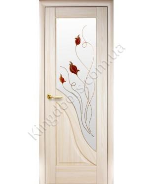 """Межкомнатные двери """"Амата"""",ПО +Р1. пленка ПВХ, фабрика """"Новый стиль"""", цвет - ясень."""