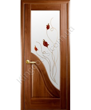 """Межкомнатные двери """"Амата"""",ПО +Р1. пленка ПВХ, фабрика """"Новый стиль"""", цвет - золотая ольха."""