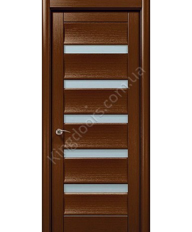 """Межкомнатные шпонированные двери """"Модерн 2"""" ПО.  WoodOk. Цвет -шоколадный венге"""