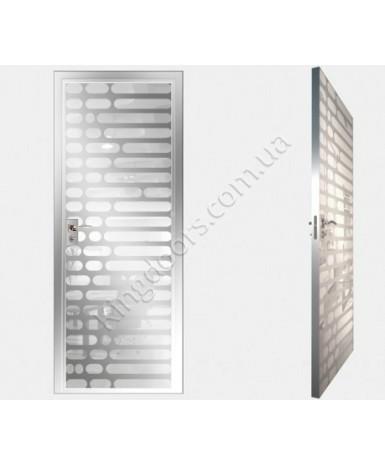 """Межкомнатные стеклокаркасные двери. Модель """" 01 MW"""". Фабрика Аксиома. Покрытие зеркало. Цвет моноколор белый"""