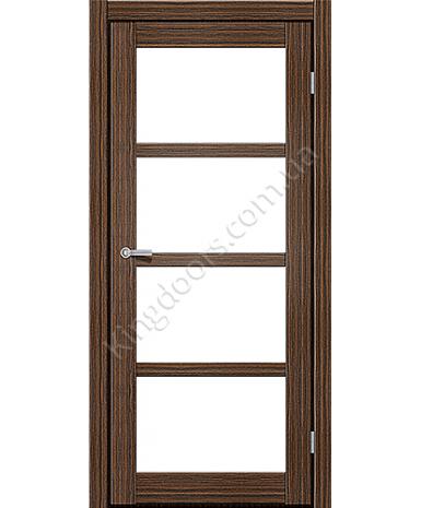 """Межкомнатные двери ART 04-02. Пленка ПВХ. Фабрика """"Art Door"""". Цвет зебрано"""