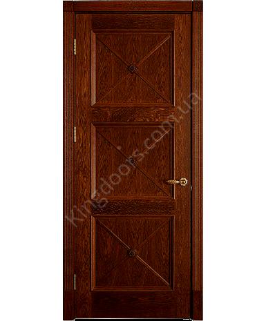 """Межкомнатные шпонированные двери """"Адант"""" ПГ.  Двери Белоруссии. Цвет - дуб тонированный"""