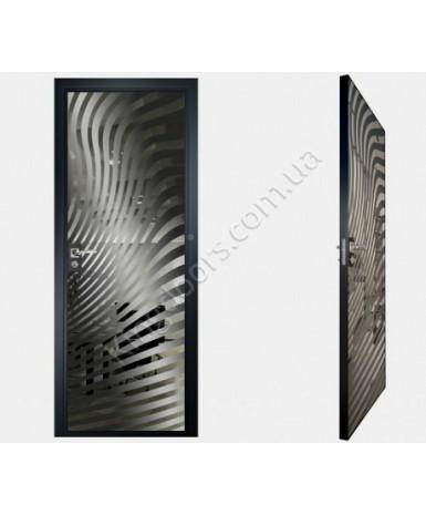 """Межкомнатные стеклокаркасные двери. Модель """"07 G"""". Фабрика Аксиома. Покрытие зеркало. Цвет графит"""