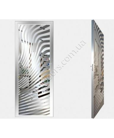 """Межкомнатные стеклокаркасные двери. Модель """"07 S"""". Фабрика Аксиома. Покрытие зеркало. Цвет серебро"""