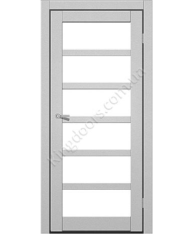 """Межкомнатные двери ART 08-02. Пленка ПВХ. Фабрика """"Art Door"""". Цвет металлик"""