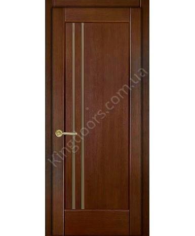 """Межкомнатные шпонированные двери """"Лайн"""" ПО.  НСД. Цвет - дуб темный"""