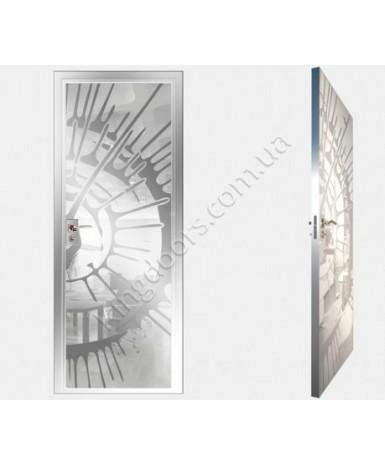 """Межкомнатные стеклокаркасные двери. Модель """"11 MW"""". Фабрика Аксиома. Покрытие зеркало. Цвет моноколор белый"""