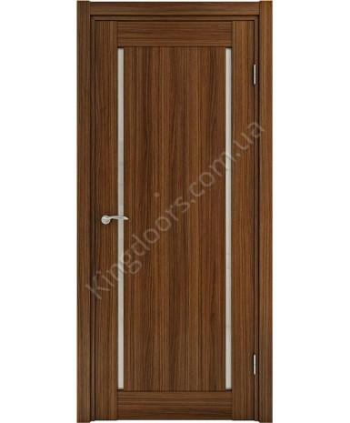 """Межкомнатные шпонированные двери """"Твинс"""" ПО.  НСД. Цвет - орех итальянский"""