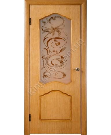 """Межкомнатные шпонированные двери """"Арт С"""" ПС.  Галерея дверей. Цвет - дуб"""