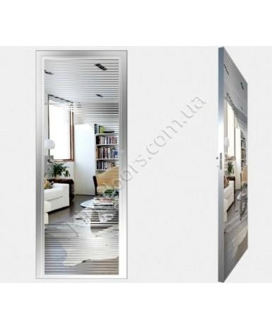 """Межкомнатные стеклокаркасные двери. Модель """"13 S"""". Фабрика Аксиома. Покрытие зеркало. Цвет серебро"""