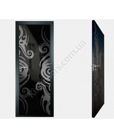 """Межкомнатные стеклокаркасные двери. Модель """"15 MB"""". Фабрика Аксиома. Покрытие зеркало. Цвет"""