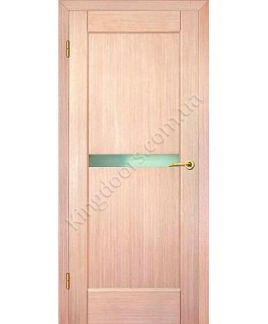 """Межкомнатные шпонированные двери """"Санрайз 1"""" ПО.  НСД. Цвет - дуб беленый"""