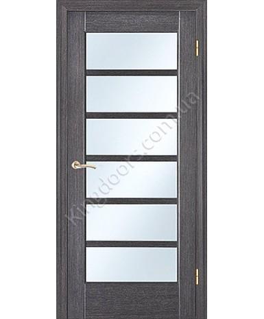 """Межкомнатные шпонированные двери """"Калипсо 1"""" ПО.  НСД. Цвет - грей"""
