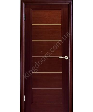 """Межкомнатные шпонированные двери """"Калипсо"""" ПО.  НСД. Цвет - венге"""