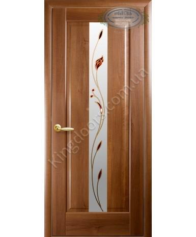 """Межкомнатные двери """"Премьера"""",ПО +Р1. пленка ПВХ, фабрика """"Новый стиль"""", цвет - золотая ольха."""