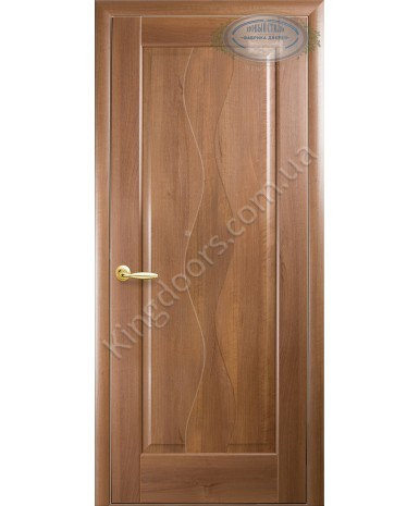 """Межкомнатные двери """"Волна"""",ПГ, пленка ПВХ, фабрика """"Новый стиль"""", цвет - золотая ольха."""
