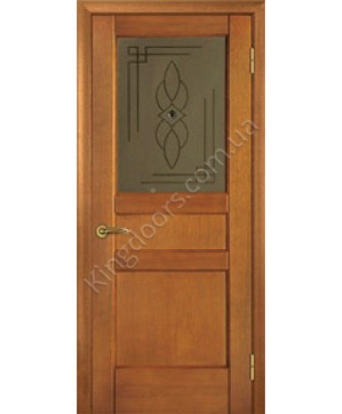 """Межкомнатные шпонированные двери """"Классик 4"""" ПО.  НСД. Цвет - анегри"""