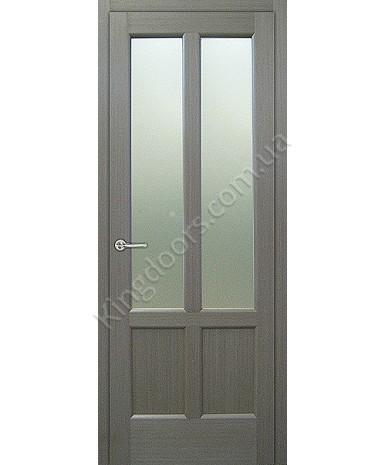"""Межкомнатные шпонированные двери """"Классик 2"""" ПО.  НСД. Цвет - грей"""