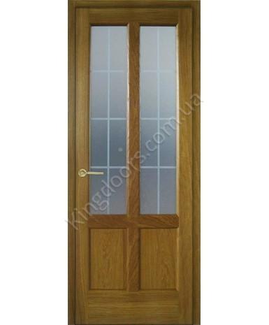 """Межкомнатные шпонированные двери """"Классик 2"""" ПО + рис.4.  НСД. Цвет - тик"""