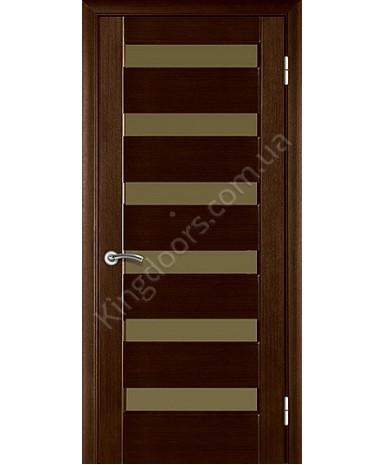 """Межкомнатные шпонированные двери """"Лагуна"""" ПО.  НСД. Цвет - каштан"""