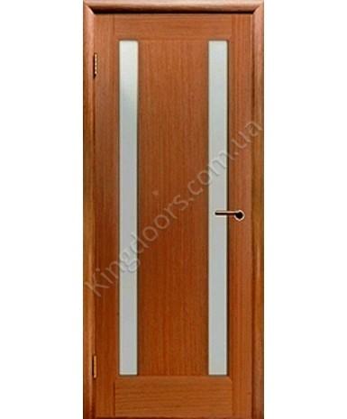 """Межкомнатные шпонированные двери """"Стелла 2"""" ПО.  НСД. Цвет - анегри"""