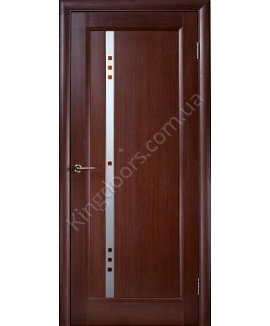 """Межкомнатные шпонированные двери """"Фиджи"""" ПО.  НСД. Цвет - каштан"""