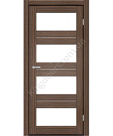 """Межкомнатные двери M 302. Пленка ПВХ. Фабрика """"Art Door"""". Цвет зебрано"""