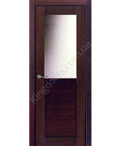 """Межкомнатные шпонированные двери """"Дублин"""" ПО.  НСД. Цвет - каштан"""