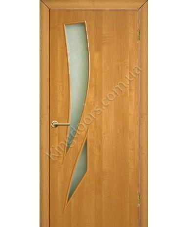 """Межкомнатные двери """"Фиеста"""" ПО. Фабрика Омис. Ламинированные. Цвет - ольха европейская"""