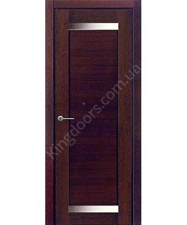 """Межкомнатные шпонированные двери """"Дублин 2"""" ПО.  НСД. Цвет - каштан"""
