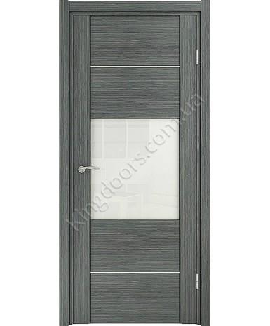 """Межкомнатные шпонированные двери """"Кэмбридж -М"""" ПО.  НСД. Цвет - грей"""