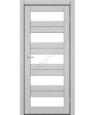 """Межкомнатные двери M 402. Пленка ПВХ. Фабрика """"Art Door"""". Цвет металлик"""
