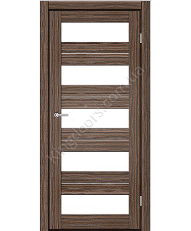 """Межкомнатные двери M 402. Пленка ПВХ. Фабрика """"Art Door"""". Цвет зебрано"""