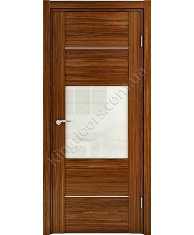 """Межкомнатные шпонированные двери """"Кэмбридж-С"""" ПО.  НСД. Цвет - анегри"""