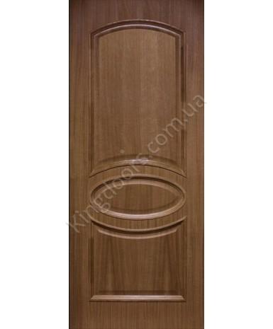 """Межкомнатные шпонированные двери """"Лаура"""" ПГ.  Фабрика Омис. Цвет - орех"""