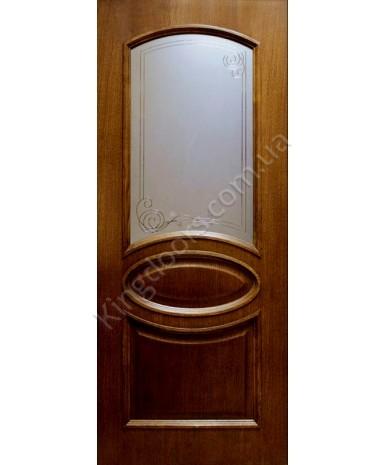 """Межкомнатные шпонированные двери """"Лаура"""" ПО.  Фабрика Омис. Цвет - орех"""