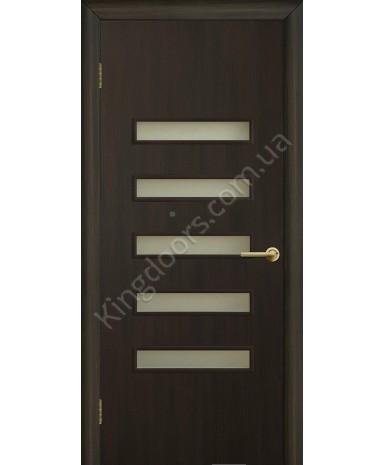 """Межкомнатные двери """"Аккорд 3"""" ПО. Фабрика Омис. Ламинированные. Цвет - венге"""