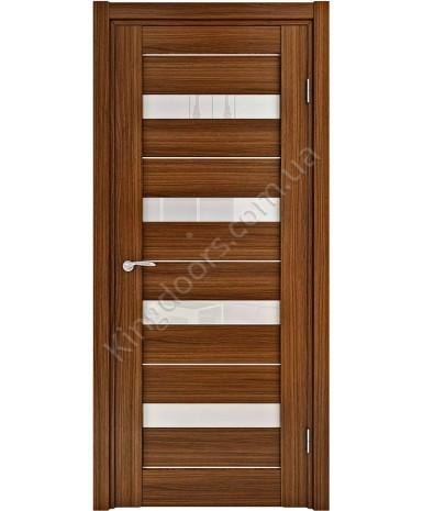 """Межкомнатные шпонированные двери """"Марсель - М"""" ПО.  НСД. Цвет - орех итальянский"""