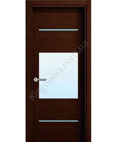 """Межкомнатные шпонированные двери """"Кэмбридж -С"""" ПО.  НСД. Цвет - венге"""