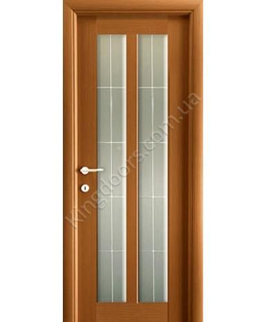 """Межкомнатные шпонированные двери """"Дельта"""" ПО  + Рис1.  НСД. Цвет - анегри"""