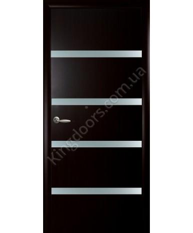 """Межкомнатные двери """"Нота"""",ПГ. фабрика """"Новый стиль"""", экошпон, цвет - венге 3D"""