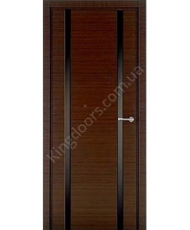 """Межкомнатные шпонированные двери """"Онтарио"""" ПГ.  НСД. Цвет - венге"""