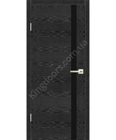 """Межкомнатные шпонированные двери """"Орлеан"""" ПГ.  НСД. Цвет - грей"""
