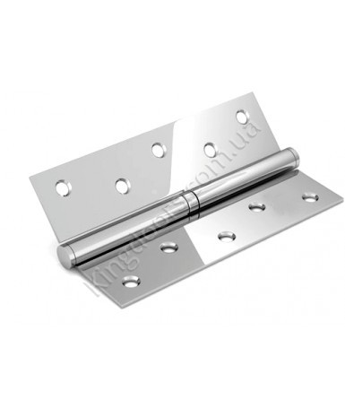 Дверные съемные врезные петли. Длинна 125 мм. Открывание ПРАВОЕ. Цвет серебро (хром)